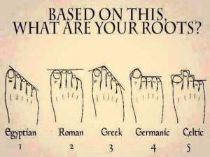 What your feet tell you about your roots