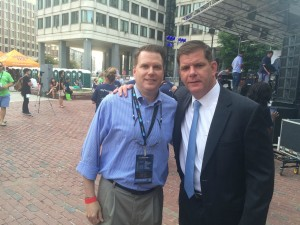 Boston Mayor and FootSizer CEO Meet at TechJam
